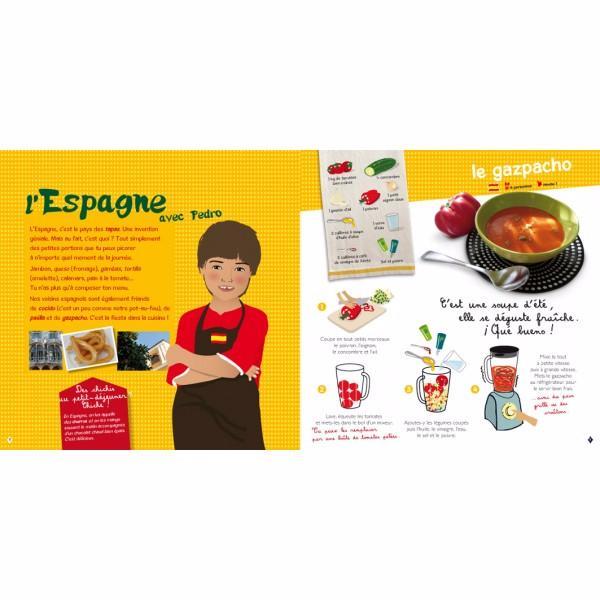 Livre de recettes du monde pour enfant - Livre de cuisine pour enfant ...
