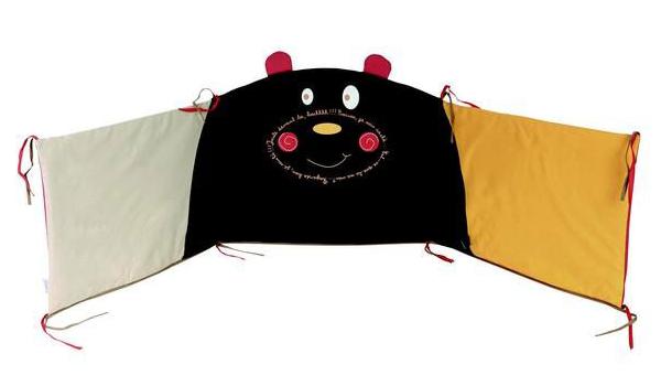 Tour de lit b b nounours en coton quitable - Tour de lit coton bio ...
