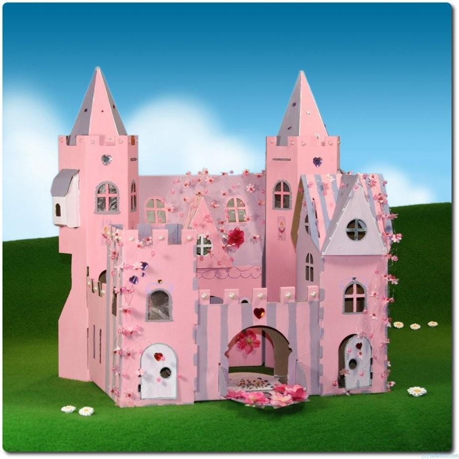 Замок сказочный своими руками из картона