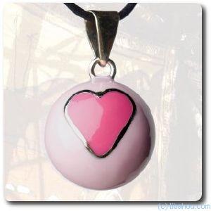 Bola bijou de grossesse rose motif coeur - Quand porter un bola de grossesse ...
