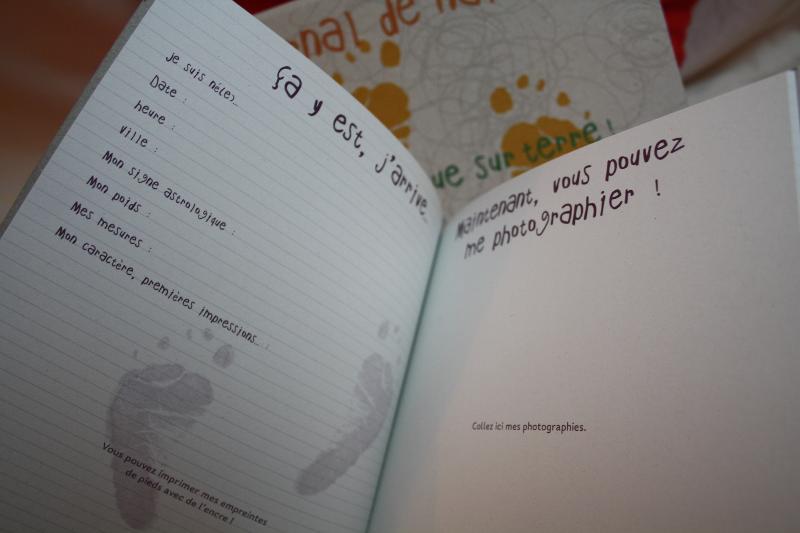 Bien-aimé Journal de naissance à remplir en papier recyclé GC63