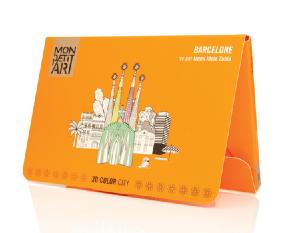 Barcelone, Coloriage 3D City